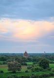 Древние храмы в Bagan, Мьянме Стоковое Изображение RF