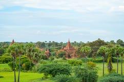Древние храмы в Bagan, Мьянме Стоковая Фотография RF