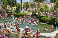 Древний город древнего города Hierapolis Стоковые Фото