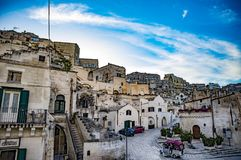 Древний город di Matera Matera Sassi Базиликата, южная Италия Стоковое фото RF