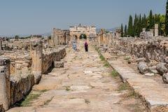 Древний город Hierapolis в Pamukkale, Турции стоковое фото rf