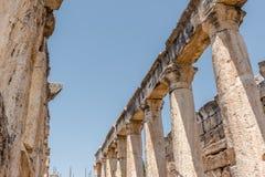 Древний город Hierapolis в Pamukkale, Турции стоковые фотографии rf