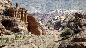 Древний город Petra, Джордан стоковая фотография rf