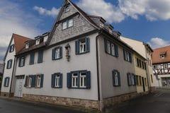 Древний город Seligenstadt, Германия улица города старая col Стоковые Изображения