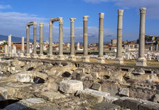 Древний город агоры Izmir Стоковое Изображение