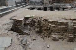 Древний город Антальи Perge, агора, старая римская империя, интерьер, пол Стоковые Фотографии RF