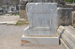 Древний город Антальи Perge, агора, старая римская империя Стоковые Фото