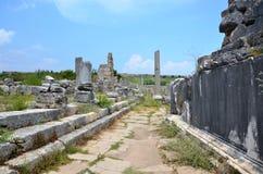 Древний город Антальи Perge, агора, старая римская империя Стоковое Изображение
