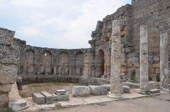 Древний город Антальи Perge, агора, старая римская империя Стоковая Фотография