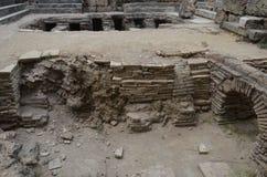 Древний город Антальи Perge, агора, старая римская империя Стоковое фото RF
