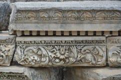 Древний город Антальи Perge, агора, старая римская империя Стоковое Фото