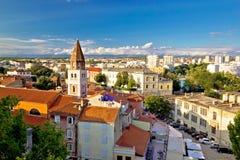 Древний город вида с воздуха Zadar Стоковая Фотография