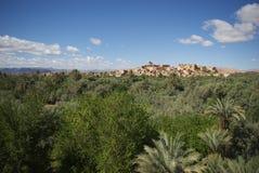 Древний город в оазисе Стоковое Изображение