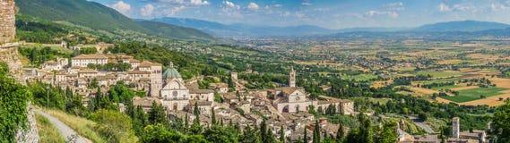 Древний город Assisi, Умбрии, Италии стоковое фото rf