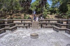 Древний город Kumara Pokuna Шри-Ланка Polonnaruwa стоковое фото