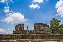 Древний город Medirigiriya Vatadage Шри-Ланка Polonnaruwa стоковая фотография