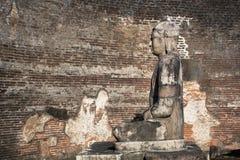 Древний город Polonnaruwa, фото Vatadage & x28; Круговая реликвия House& x29; в Polonnaruwa стоковые изображения