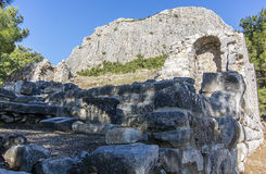 Древний город Priene Стоковая Фотография RF