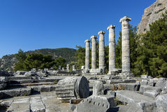 Древний город Priene Стоковые Изображения