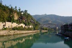 Древний город Zhenyuan в Гуйчжоу Китае Стоковые Фотографии RF