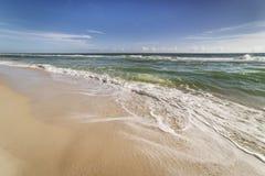 Древний пляж Флориды отсутствие людей Стоковое Изображение RF