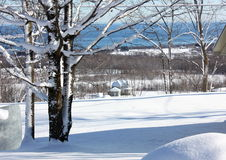 Древний холм ландшафта Snowy Стоковые Фотографии RF