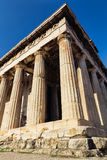 Древний храм Афин стоковые фотографии rf