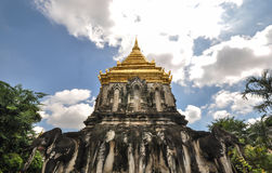 Древний храм в Чиангмае, Таиланде Стоковое фото RF