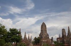 Древний храм в Ayudhya Таиланде стоковые изображения
