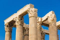 Древний храм Зевса, Olympeion, Афин, Греции Стоковые Изображения