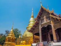 Древний храм и пагода d с предпосылкой голубого неба стоковые фотографии rf