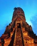 Древний храм на ayutthaya Стоковые Изображения RF