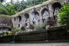 Древний храм Gunung Kawi в центральном Бали Стоковая Фотография RF