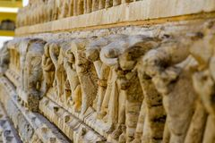 Древний храм Jagdish в Udaipur, Индия, стоковое изображение