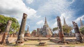 Древность красивый Ayutthaya Phra Si Sanphet wat виска сток-видео