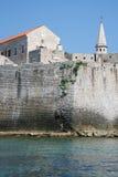 Древняя крепость и ратуша Взгляд от моря Стоковые Изображения RF