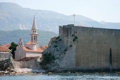 Древняя крепость и ратуша Взгляд от моря Стоковые Фото