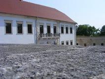 Древняя крепость с красной крышей Стоковые Фотографии RF