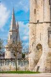 Древняя крепость La Rochelle Франции стоковая фотография