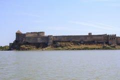 Древняя стена крепости Akkerman в Белгороде-Dnestrovsky Стоковое Фото