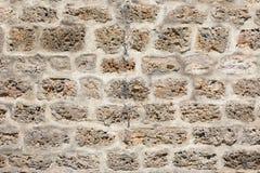 Древняя стена построенная белой каменной текстуры стоковые фотографии rf