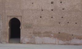 Древняя стена с дверью Стоковое Фото