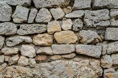 Древняя стена с masonry Стоковое фото RF
