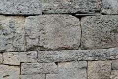 Древняя стена с masonry Стоковое Изображение