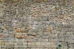 Древняя стена с masonry Стоковая Фотография