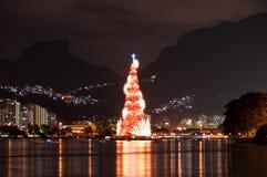 Древовидная структура рождественской елки в Рио-де-Жанейро Стоковые Изображения RF