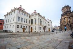 22 01 2018 Дрезден, Германия - историческое старое здание полиции De Стоковые Изображения