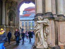 Дрезден, Германия - 31-ое декабря 2017: Дворец Zwinger, Дрезден, Саксония, Германия, Европа стоковое изображение rf