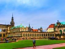 Дрезден, Германия - 31-ое декабря 2017: Дворец Zwinger, Дрезден, Саксония, Германия, Европа стоковое фото rf