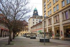 22 01 2018 Дрезден, Германия - старые красивые дома в Дрездене, s Стоковая Фотография